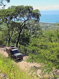 The road to Livingstonia is every 4x4ers dream, dirt road, switchbacks, and steep ascents