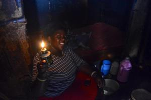 Before Sam and the rest of the gang installed solar power to this home kerosene lanterns were the only option for this family.