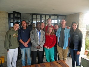 Chief Mapengo comes to meet the Adventures Cross Country group at Napenda Solar Community HQ in Kajiado, Kenya